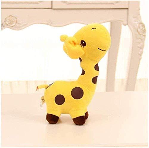 Unisex Plüsch Giraffe Plüschtier Lieber Puppe Baby Kind Kind Weihnachten Alles Gute zum Geburtstag Buntes Geschenk 18 cm Qianmianyuan