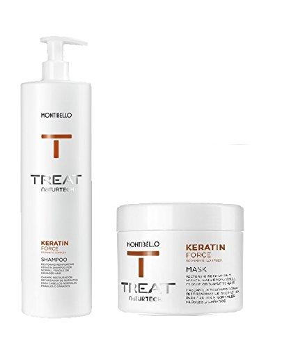 montibello naturtech Keratin Force Shampoo 1000ml y máscara 500ml