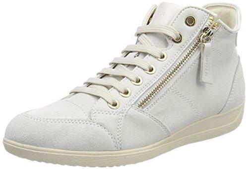 Geox D Myria C, Scarpe Sportive a Collo Alto Donna, Bianco (off White C1002), 36 EU