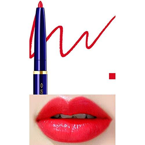 Yiwa Double Tête Cosmétique Professionnel Lipliner Imperméable Dame Charme Lèvres Lèvres Doux Crayon Contour Rouge À Lèvres 04#
