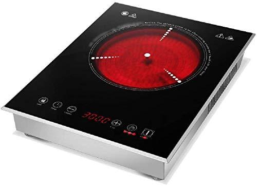 Xiaoyue Placa de inducción, hogar portátil vitrocerámica eléctrica incrustado Cocina eléctrica, el...