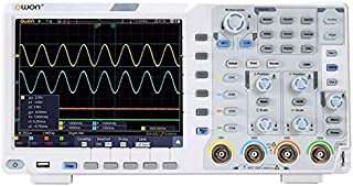 OWON XDS3104E Digital Oscilloscope 100Mhz DSO 4 Channels 1GS/S 8 BITS LCD with Touch Screen Function,45,000 wfms/s Refresh...