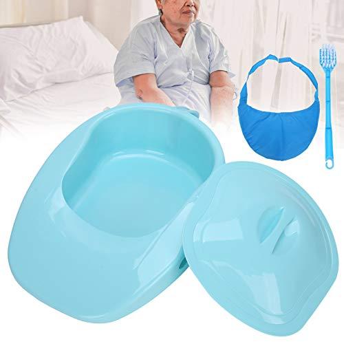Cuchara de servicio pesado, dispositivo de emergencia con sartén, cuña para adultos con asa y tapa de ajuste seguro para ancianos, mujeres, hombres, postrados en cama, paciente, cama de hospital