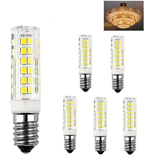 E14 LED Lampe Kaltweiß 6000K, 7W ersatz für Halogenlampe E14 60W, AC 230V E14 Mini Glühlampe, Kein Flackern 680LM, 360° Abstrahlwinkel,Nicht Dimmbar, 5er Pack