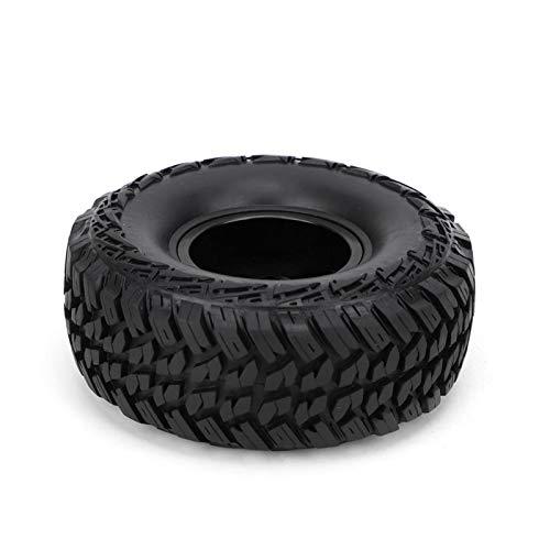 Fácil de instalar y quitar, 2 piezas de aleación de aluminio de 1,9 pulgadas, llantas de cubo de rueda, llantas de 1/10 Rc para camión de orugas, para 1:10, modelo de control remoto, coche(A black)