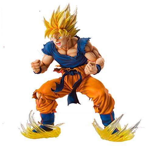 LULUDP Dragon Ball Modèle de Personnage de Dessin animé Qilongzhu Changer Super Saiyan 17.5cm Sun Wukong Ornements modèle Ornements Sculpture Collection Ornement