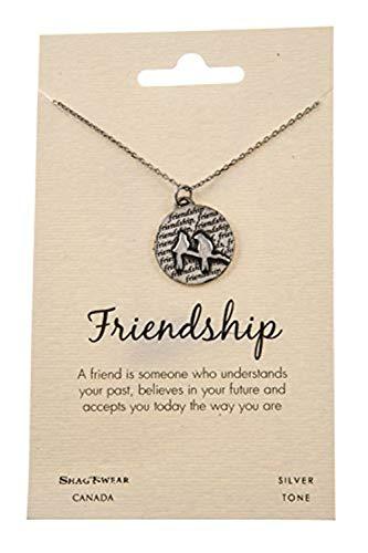 Shag Wear Beast Impulsive Quote Pendant Necklace (Friendship, Birds on Branch)