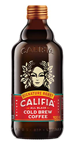 Califia Farms Signature Blend Black Label Cold Brew, 10.5 Oz (Pack of 6) | All Black Coffee | Vegan | Non-GMO