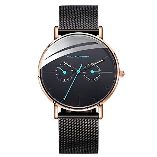 Xlin relojes, reloj de moda masculino coreano, ultrafino, no mecánico (color: oro)