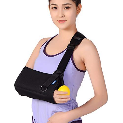 HF- Ademende Arm Sling met Tailleband, Arm Ondersteuning voor Arm Sprain en Pleister, Vast - Zwart/Unisex