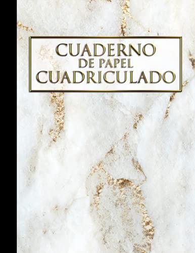 Cuaderno de Papel Cuadriculado Mármol: Cuaderno bonito A4 (8,5x11') cuadriculado 4x4 sin espiral con 120 hojas con diseño de mármol ideal para estudiantes de matemáticas o ciencias