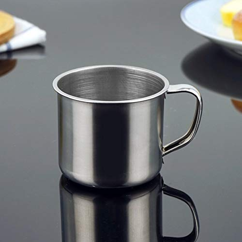 Acero Inoxidable Taza Té Café para Camping Viaje/Uso Hogar - Plateado, free size