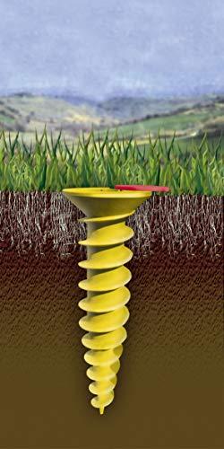 Juwel Bodenschraubanker DUO für Wäschespinnen (für Rohre ø 32 mm-55 mm, zum Einbetonieren oder Eindrehen, inkl. Eindrehhilfe, robustes Material, inkl. wasserdichtem Deckel) 30026