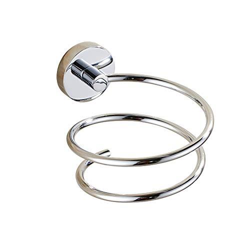 L&HM Soporte de secador Pelo de Acero Inoxidable, Titular Cromado para Baño Dormitorio Peluquería 11 x 8.5 x 13CM