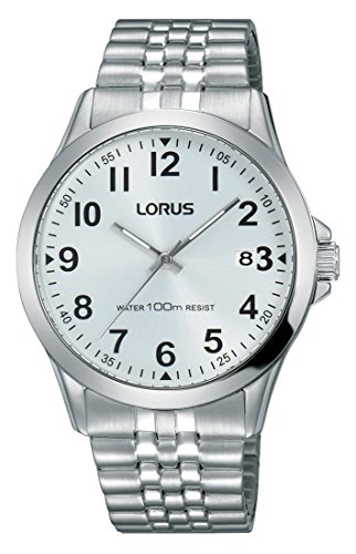 Lorus Klassik Herren-Uhr Edelstahl mit Metallband RS975CX9