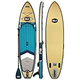 ISLE Explorer (2019 Model) Inflatable Stand Up Paddle Board & iSUP Bundle Accessory Pack — Durable, Lightweight with Stable Wide Stance — 300 Pound Capacity, 11' Long, 6' Thick
