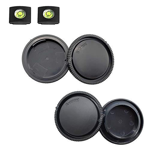 ULBTER Front Body Cap + Rear Lens Cap Cover for Sony Alpha E Mount A6600 A6500 A6400 A6300 A6100 A6000 A5100 A5000/A7R IV/A7R II/A7R III/A7R/A7 III/A7 II/A7/A9/A7C/A7S III More Sony Camera & Lens