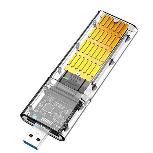 Creely Externo M.2 NGFF SATA SSD recinto alta velocidad USB3.0 Gen1 5Gb/s transparente SATA SSD caso para PC oro