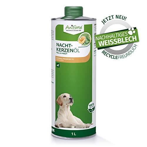 AniForte Nachtkerzenöl für Hunde 1L – ungesättigte & gesättigte Fettsäuren, Omega 6 & 9, Stärkung des Wohlbefinden, Recyclebare Verpackung ohne BPA, Naturprodukt, Keine Kapseln