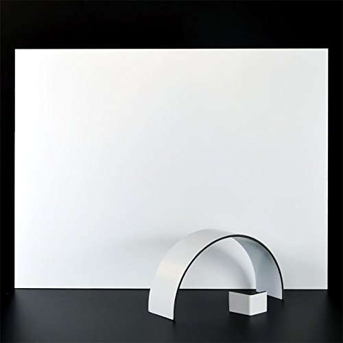6mm Alu DIBOND® Platte 50x25 cm weiß