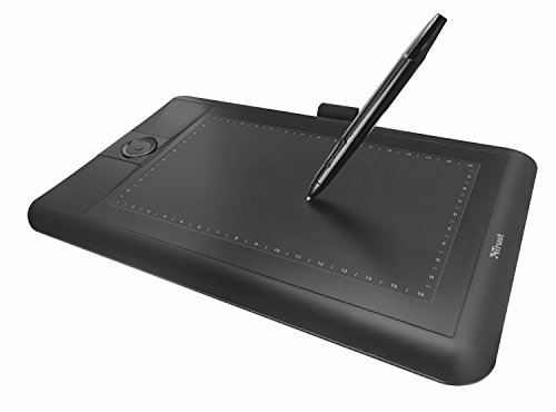 Trust Panora - Tableta gráfica panorámica, Color Negro