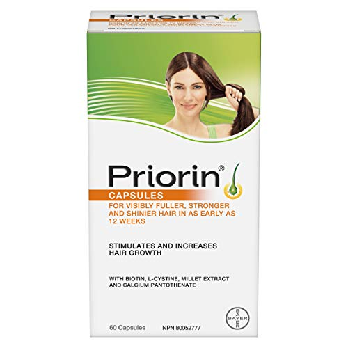 PRIORIN Hair Growth Stimulant, For Women and Men, with Biotin, Millet Extract, L-Cystine and Calcium Pantothenate, 60 Count