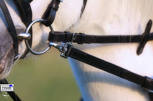 1 Paar Ausbinder Ausbindezügel Gummiring Lastik Stoßzügel Leder Ausbinde Zügel Pony - Vollblut