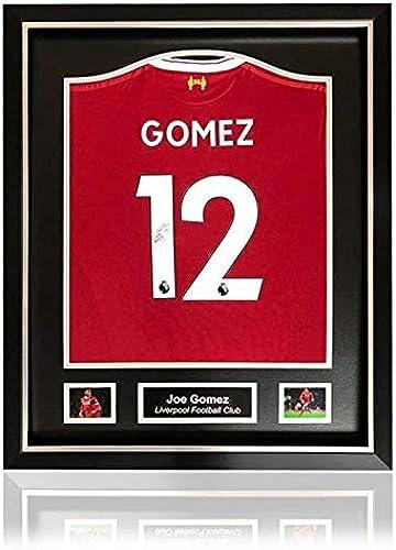 nuevo estilo Desconocido Joe Gomez Liverpool 2017-18 2017-18 2017-18 - Camisa de casa firmada a Mano con Marco clásico de Lujo  seguro de calidad