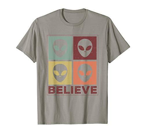 Alien Believe Retro - Alien Shirt Gift For Alien Believer T-Shirt