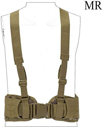 Coole atletiek Molle Tactical Vest 1000D nylon bandje mannen Leger speciale operaties militaire handige riem H-verstelbare beklede training hjm zhanshubeixin (Color : MR)