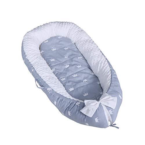 YIKANWEN Babynest Kuschelnest Babynestchen, multifunktionelles Polster-Nestchen für Babys,100{4d4ea1da8fd125a5304d69f09d0ab3feb21b67fc1e91a17c563784f196f28dfb} Baumwolle Nestchen Reisebett für Säuglinge im Alter 0-12 Monate,waschbar, trocknergeeignet