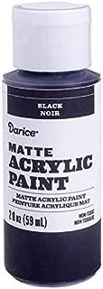Darice DPCS192-63 Matte Black, 2 Ounces Acrylic Paint