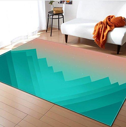 Creative Light- Tapis 3D MultiWare/Anti-Skid/Rectangulaire/Soft Pile Tapis Salon Chambre Étudier Cuisine Intérieure Mat Chevet Couverture (Couleur : #7, Taille : 120x180cm)