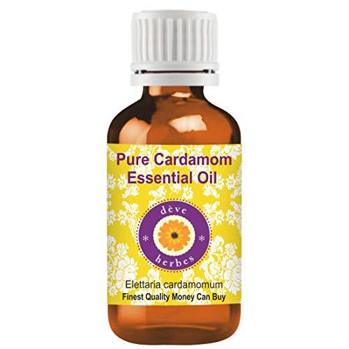 Huile essentielle pure de cardamome Deve Herbes (Elettaria cardamomum) 100% naturelle, de qualité thérapeutique, distillée à la vapeur 5ml (0,16 oz)