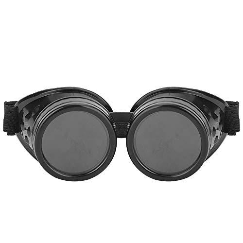 Jacksking Gafas, Gafas de Ciclismo Unisex Vintage para Exteriores Gafas de Sol de Doble Lente Gafas de Moto(Bronce Rojo)