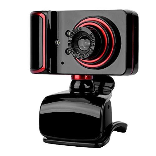 Fransande - Cámara de ordenador con micrófono de vídeo en directo, micrófono de clase doméstica, USB, conectar y usar Webcam