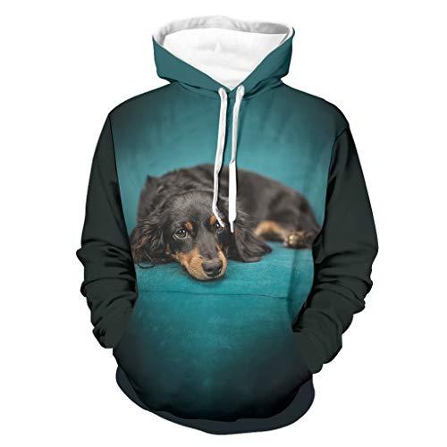 Mentmate Store Herren Hoodies Hund Neuheit Funny Hautfreundlich - Thema Hoodie White 2XL