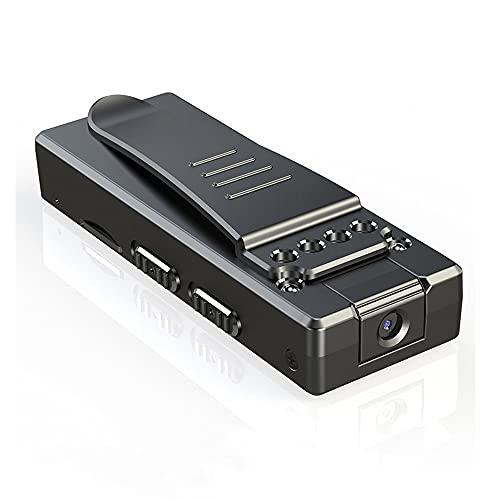 Mini cámara oculta inalámbrica, Full HD 1080P clip de bolsillo, grabación de vídeo corporal portátil con visión nocturna para el hogar, coche, oficina y uso al aire libre