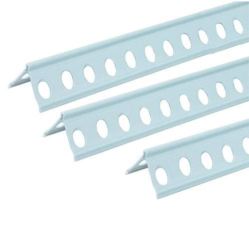 Paraspigoli angoliere intonaco angolari Pvc forato plastica bianco tondo edile uso interno ed esterno H 300 cm (40)