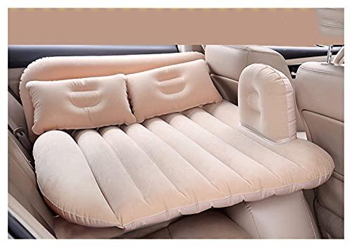 QSWL Colchoneta SUV Colchon Inchable Coche Hinchable Camping para El Hogar Senderismo Al Aire Libre, Superficie De Flocado, Rápida Inflación (Color : Beige, Size : 94x88cm)