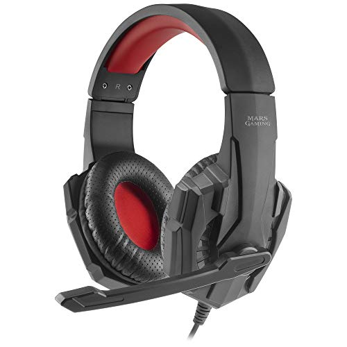 Mars Gaming MH020, Cascos Gaming con Micrófono Plegable, PS4/PS5/XBOX/SWITCH/PC