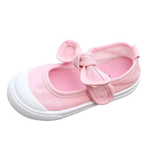 DIASTR Infant Neugeborenes Baby Weiche Sohle Prinzessin Babyschuhe, Junge Mädchen Schuhe Bogen Prinzessin weiche Leinwand Bogen untere Babyschuhe Kinder Kleinkind Schuhe 25-35