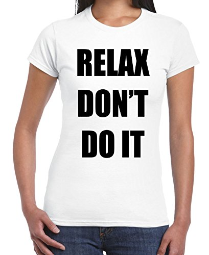 Relax Don't Do It 1980s Party Shirt - Pink or White - S to XL
