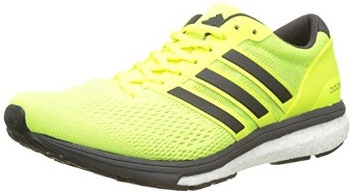 adidas Adizero Boston 6 M, Scarpe Running Uomo, Giallo (Solar Yellow/Utility Black F16/ftwr White), 44 EU