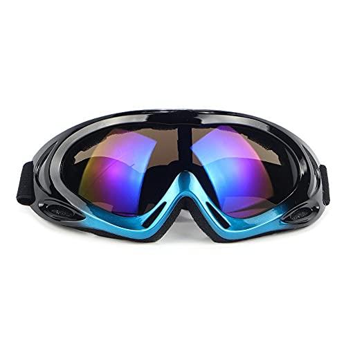 kiter Gafas de esquí Gafas al Aire Libre Montar en el Exterior Gafas Anti-Niebla Motocicleta Off-Road Parabrisas Gafas Invierno Snowboard Accesorios (Color : A)