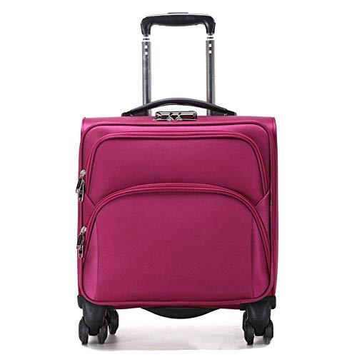 Negocio Caja de la Carretilla 18 Pulgadas con Capacidad para Ordenador portátil Compartimiento de Equipaje de Mano Maleta, Aprobado para Ryanair, Easyjet, Flybe y Muchos más Rose-Red