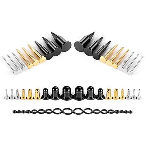 COOEAR Juego de dilatadores y tapones para los oídos, 36 unidades, 14g a 00g, juego de dilatadores para joyas de regalo.