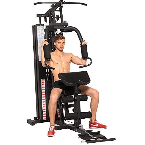 Dione HG3 - Fitnessstation - Multi-Gym - Krafstation - Mit 45 kg Gewichte - Erweiterbar auf 100 kg - Homegym