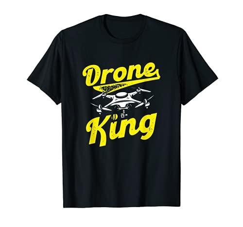 Drone King Drone Pilota Maglietta