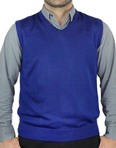 Blue Ocean Men Ocean Solid V-neck Sweater Vest
